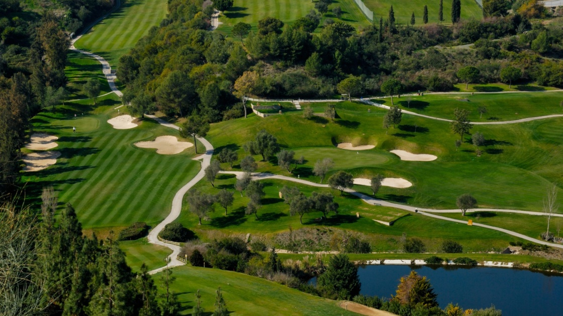 'Landscape of golf course in Marbella, Andalusia, Spain' - Andalusien